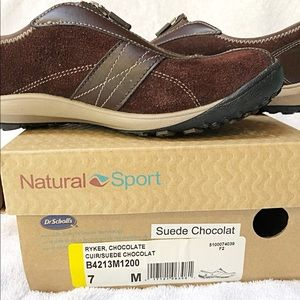 Dr.Scholl's Natural Sport Suede Zipped sneakers